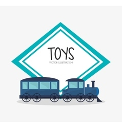 Train toy and game design vector
