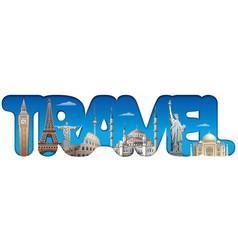 travel around world sign vector image