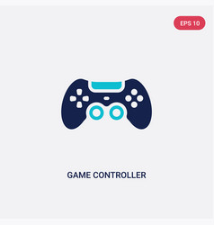 two color game controller icon from electronic vector image