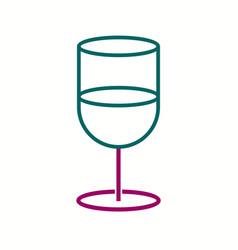 Unique soft drink line icon vector