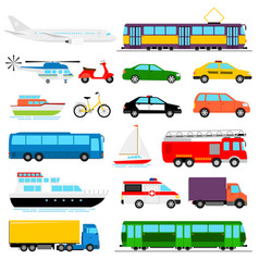 Urban transport colored city vector