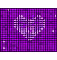 violet background with heart vector image