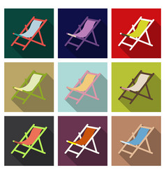 wooden beach chaise longue isolated on background vector image