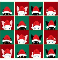 Black White Rabbit Cat Chess board Christmas vector image vector image