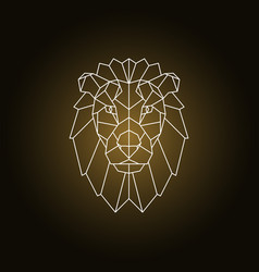 lion portrait abstract geometric vector image