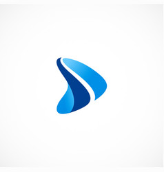 play button abstract icon logo vector image
