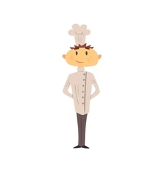 Professional Cook In Classic Double Breasted White vector image vector image