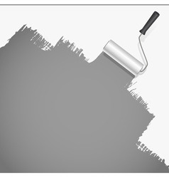roller brush painting vector image vector image
