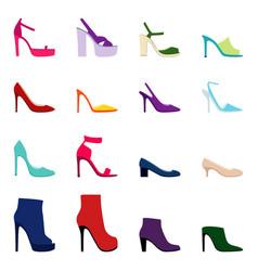 set of women shoes vector image