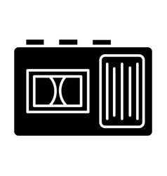 tape recorder icon black vector image vector image