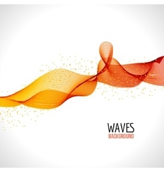 Abstract colorful wave design background vector image
