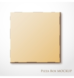 Cardboard empty pizza box mock up package vector image