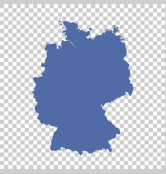 germany map on isolated background flat vector image