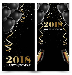 happy new year 2018 greeting card or banner vector image vector image