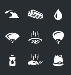 Set of cooling icons vector