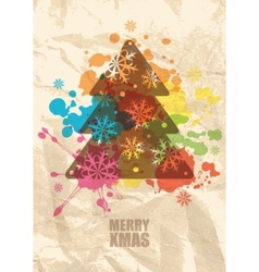 christmas grunge background vector image