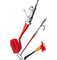 fire-fighting equipment vector image