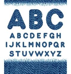 Jeans alphabet letters set vector image vector image