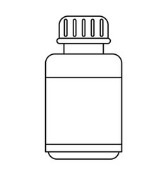 Medicine bottle capsule icon thin line vector