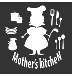 Mother kitchen vector image