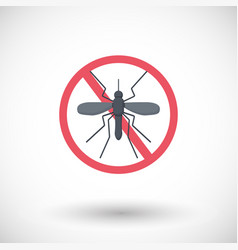 stop mosquito flat icon vector image vector image