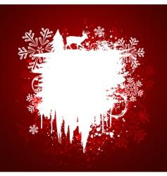 winter grunge design vector image