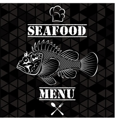 Banner with fish for the restaurant menu vector image vector image