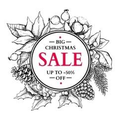 Christmas sale banner Hand drawn holiday vector image vector image