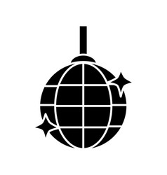 disco lamp icon vector image