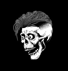 hipster skull on white background design element vector image