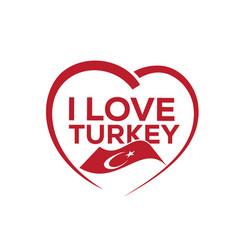 i love turkey vector image