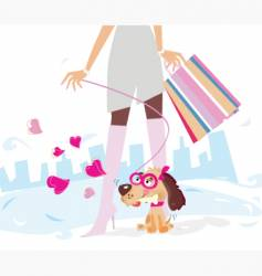 ladies shopping vector image vector image