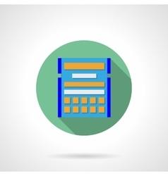 Round flat color calendar plan icon vector image