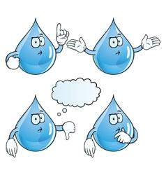 Thinking water drop set vector image vector image