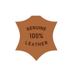 100 percent genuine leather logo icon vector