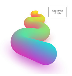 abstract 3d liquid color shapes modern gradient vector image