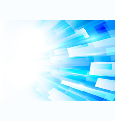 abstract blue and white rectangles motion vector image