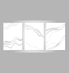 abstract white paper cut background vector image