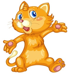 Acting cat vector image
