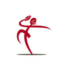 american football sport logo template design vector image