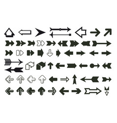 arrows big collection vector image