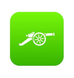 Automatic gun icon green vector