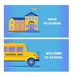 back to school two banners vector image