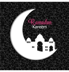 Background for Muslim Community Festival Ramadan vector image