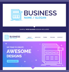 beautiful business concept brand name internet vector image