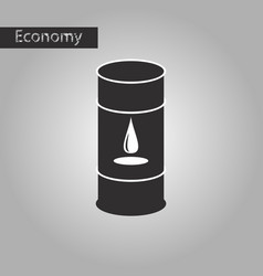 black and white style icon barrel of oil vector image