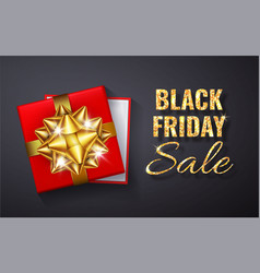 black friday sale golden glitter sparkleopen red vector image