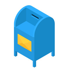 blue mailbox icon isometric 3d style vector image