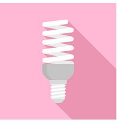 bulb energy saving icon flat style vector image