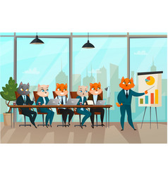 business cat presentation vector image